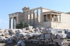 Erechtion в акрополе - Афинах - Греции Стоковые Изображения RF