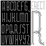 Erect font Stock Images