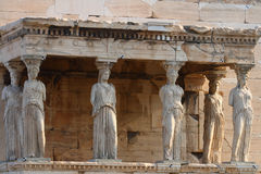 Erecthion temple on acropolis Stock Images