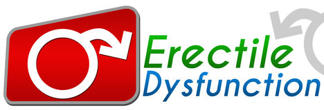 Erectile Dysfunction Red Block Stock Photography