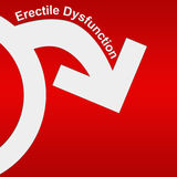 Erectile Dysfunction Red White. Conceptual red and white image with Erectile dysfunction concept vector illustration