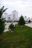 Erection of new buildings. New district. Ashkhabad. Turkmenistan Stock Photography