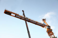 The erection of a tower crane, Counter Jib  assembly Stock Images