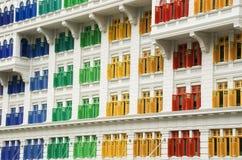 Eredità Colourful Windows, Singapore fotografie stock libere da diritti