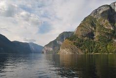 Eredità norvegese dell'Unesco del fiordo Fotografie Stock Libere da Diritti