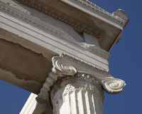 Erehtheion ionian order temple detail,Athens Greece Royalty Free Stock Image