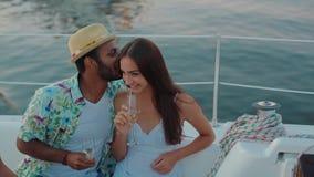 Ereignis auf der Yacht stock video footage