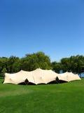 Ereignis in einem Zelt lizenzfreie stockbilder