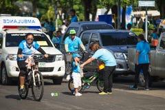 Ereignis-Fahrrad für Mutter stockfotografie