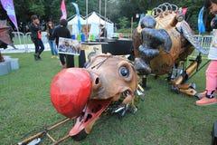 Ereignis von Künsten im Park Mardi Gras in Hong Kong Lizenzfreie Stockbilder