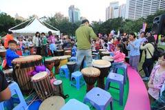Ereignis von Künsten im Park Mardi Gras in Hong Kong Lizenzfreies Stockfoto