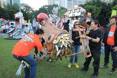 Ereignis von Künsten im Park Mardi Gras in Hong Kong Lizenzfreie Stockfotografie
