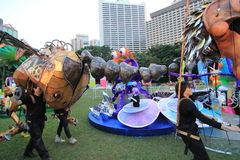 Ereignis von Künsten im Park Mardi Gras in Hong Kong Stockfotos
