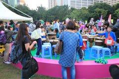 Ereignis von Künsten im Park Mardi Gras in Hong Kong Stockbilder