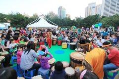Ereignis von Künsten im Park Mardi Gras in Hong Kong 2014 Stockbild