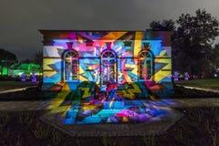 Ereignis Winterlichter im Palmgarden Stockbild