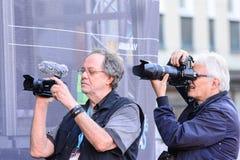 Ereigniskünstler Eric Saade auf Stadium Stockfotos