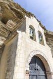 Erem Virgen De Los angeles peña rzeźbił w skale - Tosantos Zdjęcia Royalty Free
