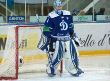 Eremenko A. (1), goaltender of Dynamo on a gate Royalty Free Stock Image