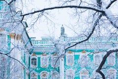 Eremitério através das árvores fotografia de stock royalty free