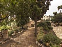 Eremitério da capela, onde viveu em Nazareth Catholic Blessed Charles de Foucauld 1858 -1916 Eugene imagens de stock