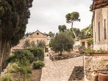Eremitério da capela, onde viveu em Nazareth Catholic Blessed Charles de Foucauld 1858 -1916 Eugene fotos de stock