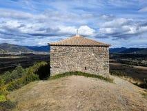 Eremitério de San Benito, em Orante & em x28; Huesca - Spain& x29; Em outubro de 2017 fotografia de stock royalty free