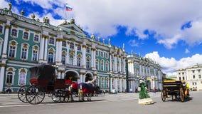 Eremitério no quadrado do palácio, St Petersburg, Rússia Fotografia de Stock