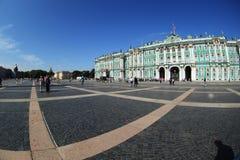 Eremitério, vista do quadrado do palácio Fotos de Stock