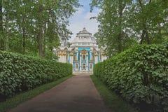 Eremitboningpaviljong i Tsarskoe Selo, St Petersburg arkivfoton