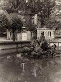 Eremitenhaus in Untere Grotte Eremitage Bayreuth royalty-vrije stock foto