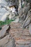 Eremo al complesso del nido della tigre, Paro, Bhutan immagini stock