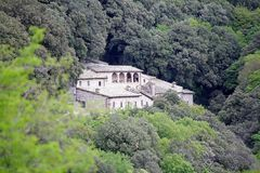 Eremo delle Carceri, Umbria, Italy royalty free stock photography