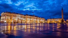 Eremo sul quadrato del palazzo, St Petersburg Fotografie Stock