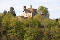 Eremo van Montesiepi, Toscanië, Italië Stock Foto's