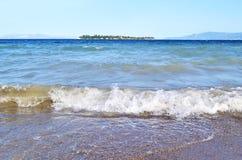 Eretria beach Euboea Greece Royalty Free Stock Images