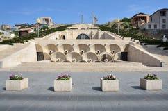 Erevan,亚美尼亚,场面9月, 06,2014,亚美尼亚:没人,小瀑布在耶烈万 免版税图库摄影