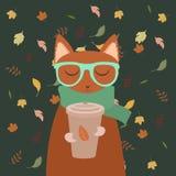 Erfüllte Herbstkatze Lizenzfreie Stockbilder