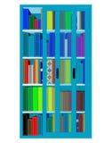 Erfüllter Bücherschrank stockfotografie