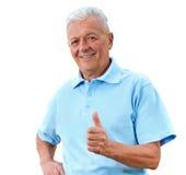 Erfüllter Senior Stockfotos