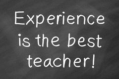 Erfahrung ist der beste Lehrer Lizenzfreies Stockbild