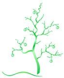 Grüner Baum der Fantasie. stock abbildung