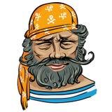 erfaren sjöman Royaltyfri Illustrationer