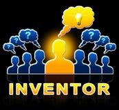 Erfinder People Means Innovating erfindet Illustration 3d Stockfotos
