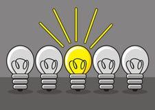 Erfinderische Lampe vektor abbildung