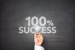 Erfolg 100% Lizenzfreie Stockfotografie