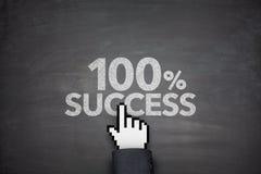 Erfolg 100% Stockfotos