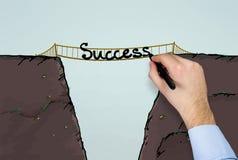 Erfolg auf Brücke Lizenzfreies Stockbild