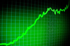 ERFOLG. Börseendiagramme auf dem Bildschirm Stockbilder