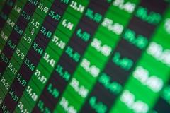ERFOLG. Börseendiagramme auf dem Bildschirm Lizenzfreie Stockbilder
